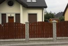 ogrodzenie z elementów drewnianych