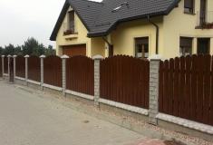 ogrodzenia drewniano-betonowe