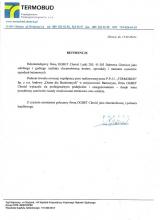 TERMOBUD- Referencje dla Firmy OGBET