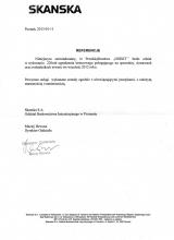 SKANSKA- Referencje dla Firmy OGBET