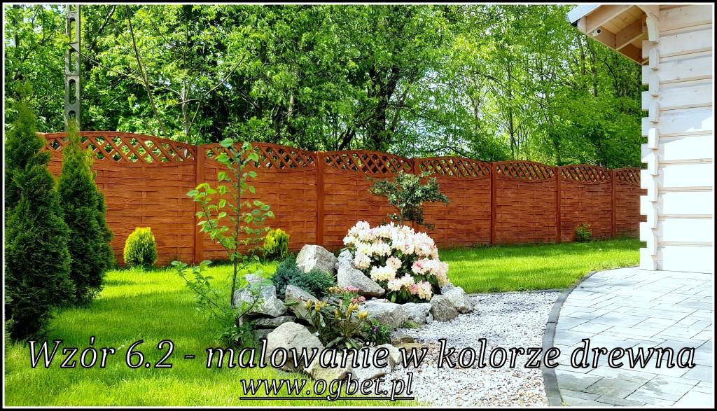 betonowe ogrodzenie malowane