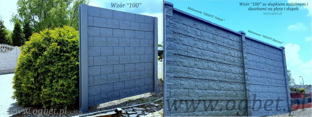 ogrodzenie betonowe z daszkiem