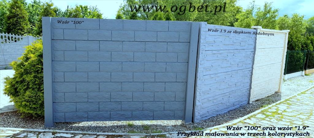 wzory ogrodzeń betonowych