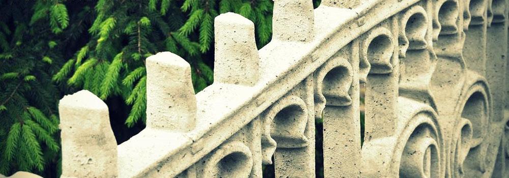 ogrodzenie betonowe zimą