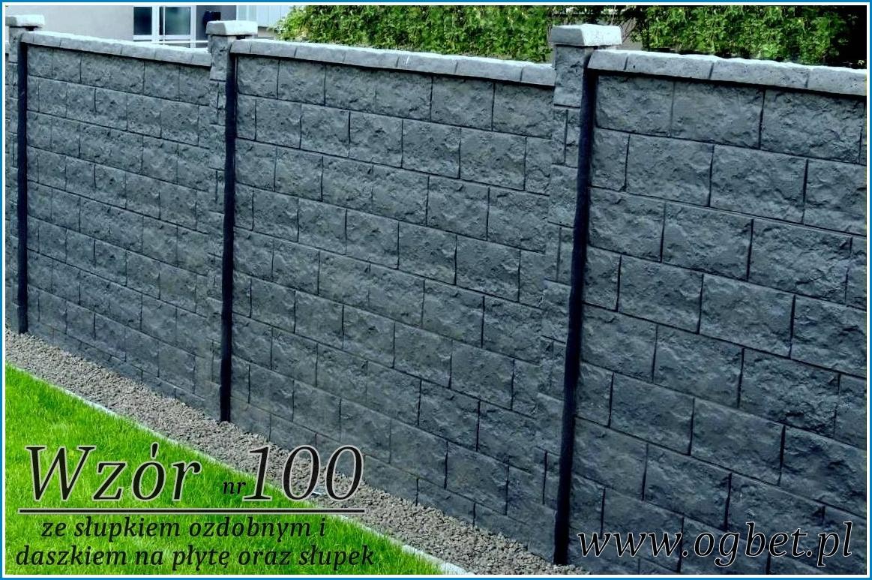 ogrodzenie betonowe wzór 100