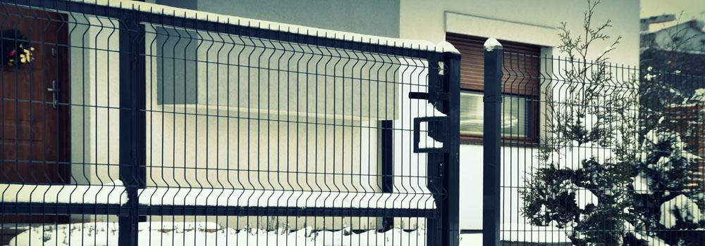 ogrodzenie panelowe z bramą