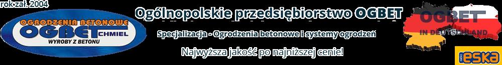 Ogólnopolskie przedsiębiorstwo OGBET - Producent ogrodzeń betonowych