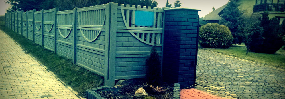 ogrodzenie wykonane z prefabrykatów przygotowanych w naszej firmie