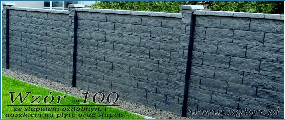 Ogrodzenia Betonowe Ploty Betonowe Podmurowki Producent Ogbet