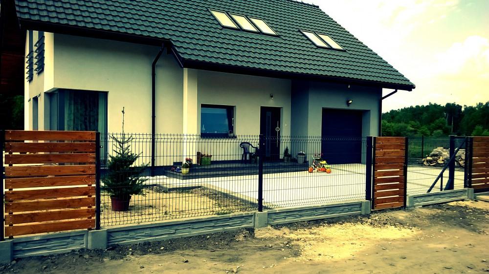 brama drewniana ogrodzenia panelowe