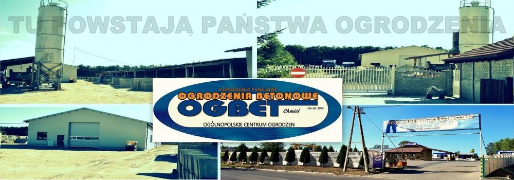 Producent ogrodzeń Ogbet - szyld
